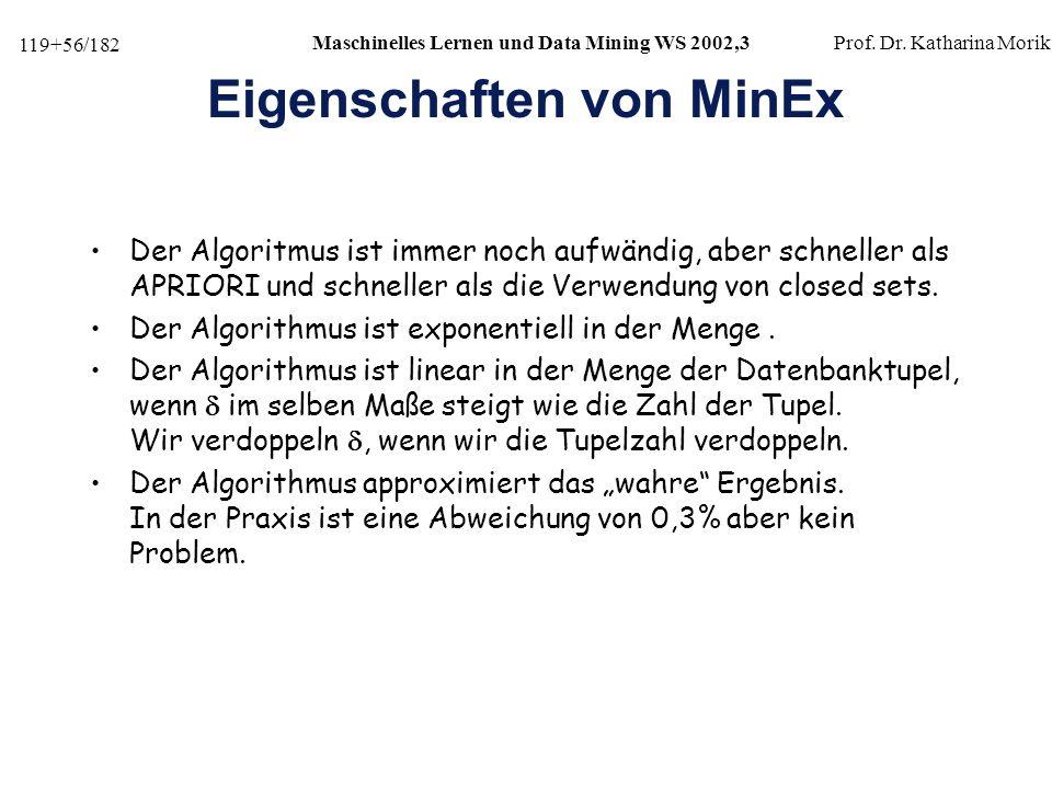 Eigenschaften von MinEx