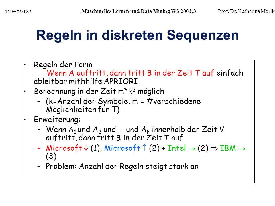 Regeln in diskreten Sequenzen
