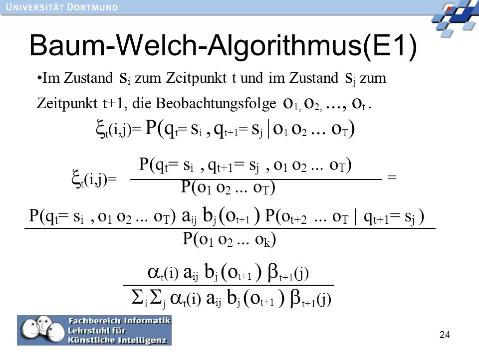 Baum-Welch-Algorithmus(E1)