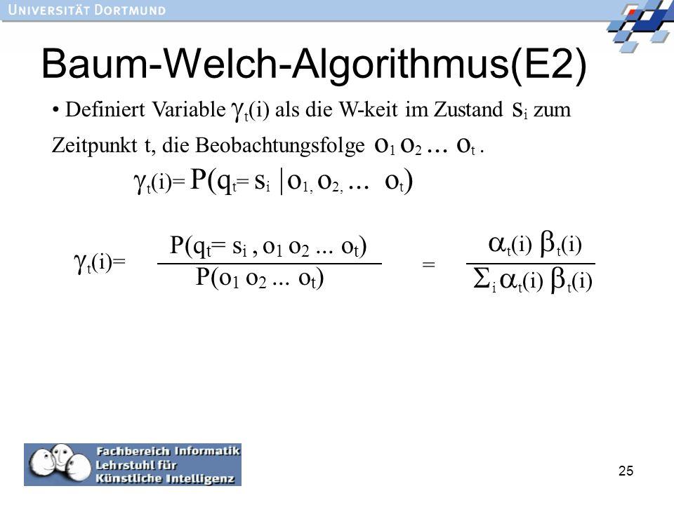 Baum-Welch-Algorithmus(E2)