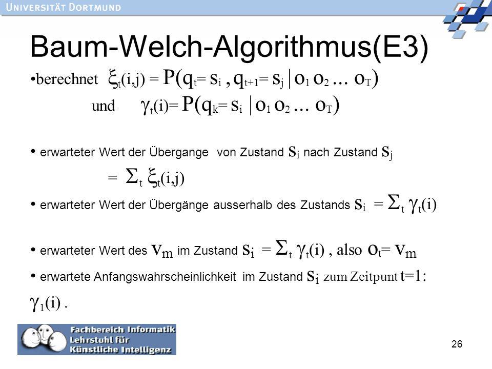 Baum-Welch-Algorithmus(E3)