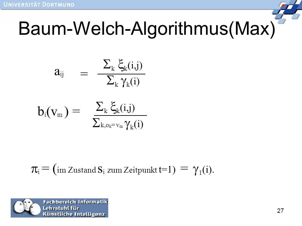 Baum-Welch-Algorithmus(Max)