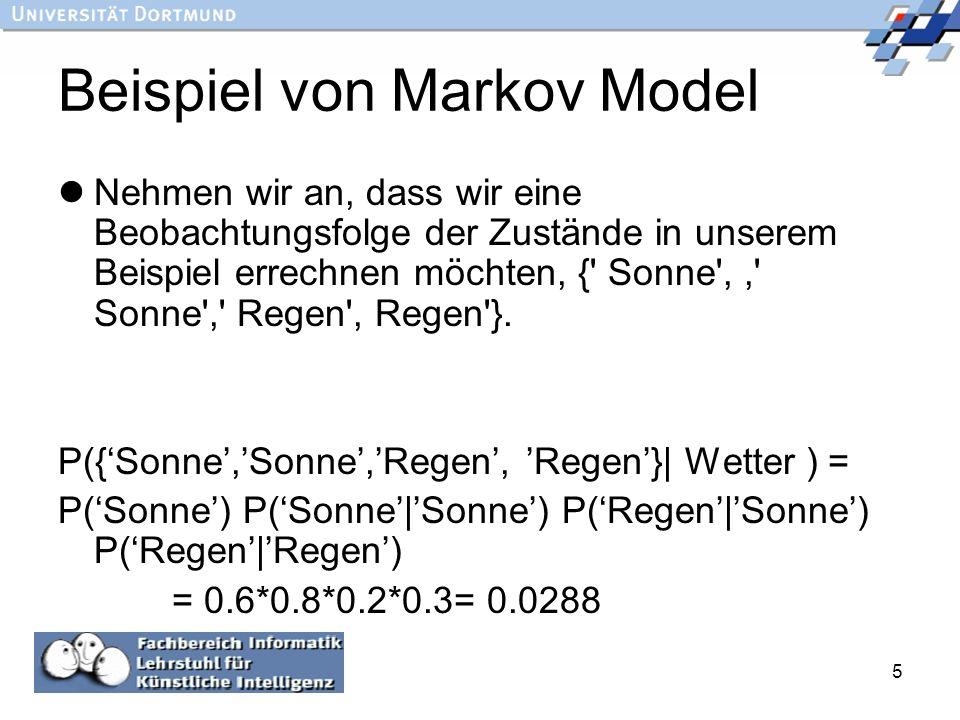 Beispiel von Markov Model