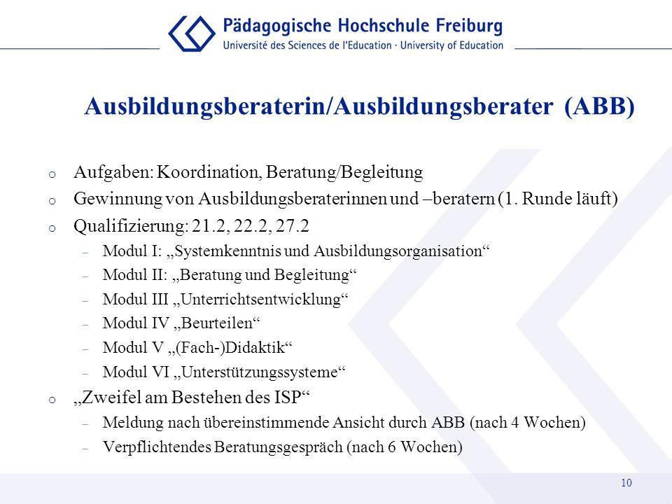 Ausbildungsberaterin/Ausbildungsberater (ABB)
