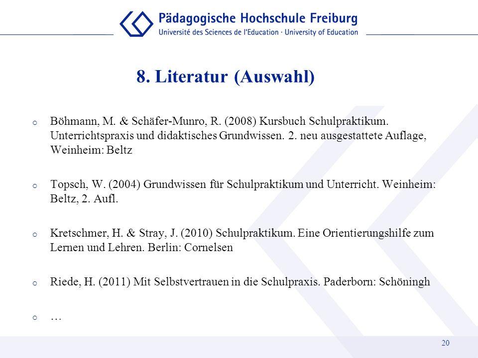 8. Literatur (Auswahl)