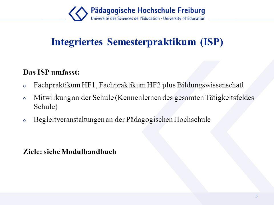 Integriertes Semesterpraktikum (ISP)