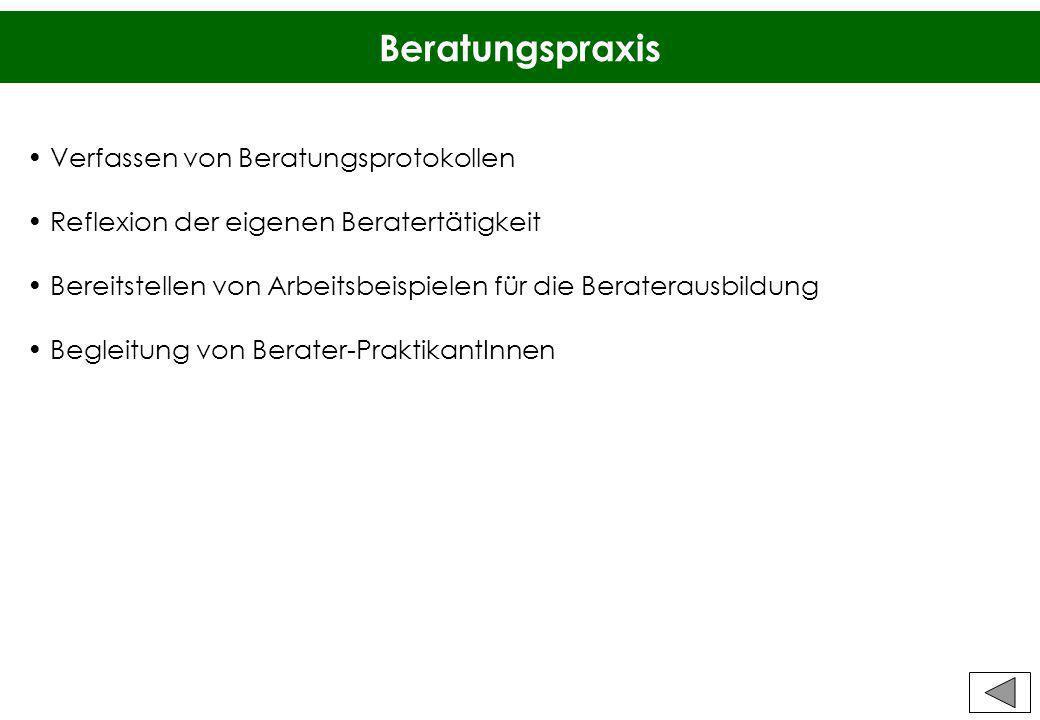Beratungspraxis Verfassen von Beratungsprotokollen
