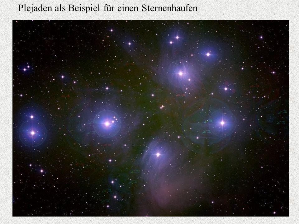 Plejaden als Beispiel für einen Sternenhaufen