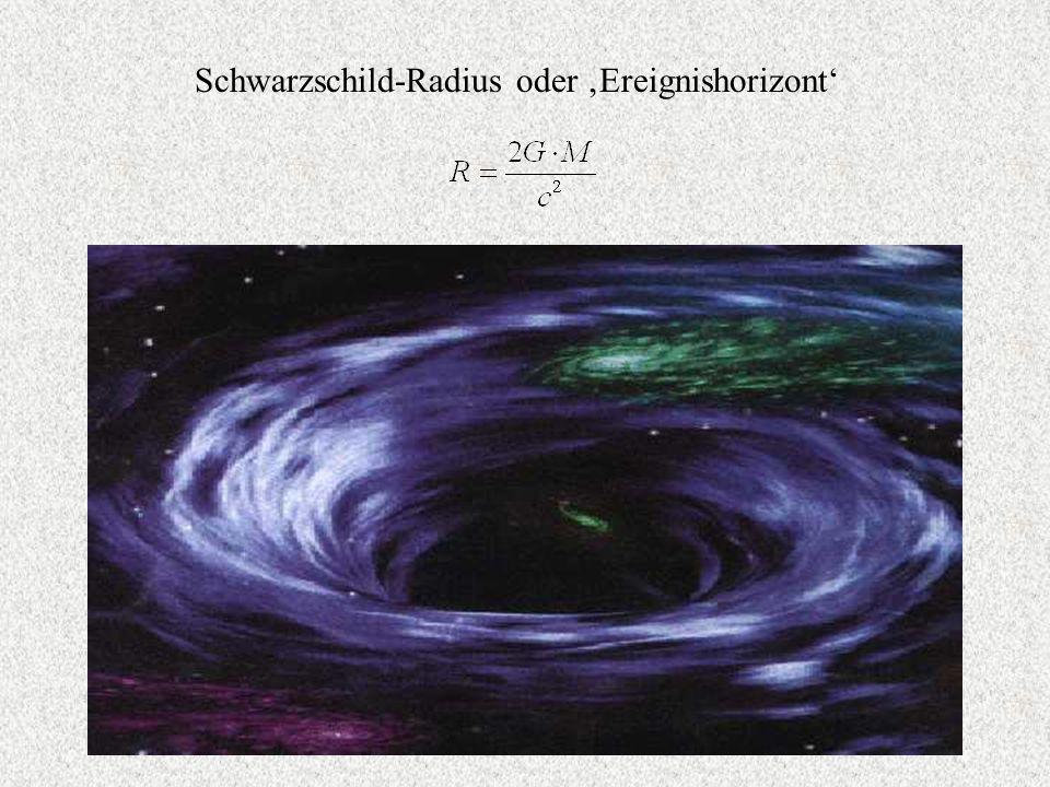 Schwarzschild-Radius oder 'Ereignishorizont'