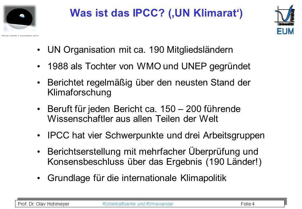 Was ist das IPCC ('UN Klimarat')