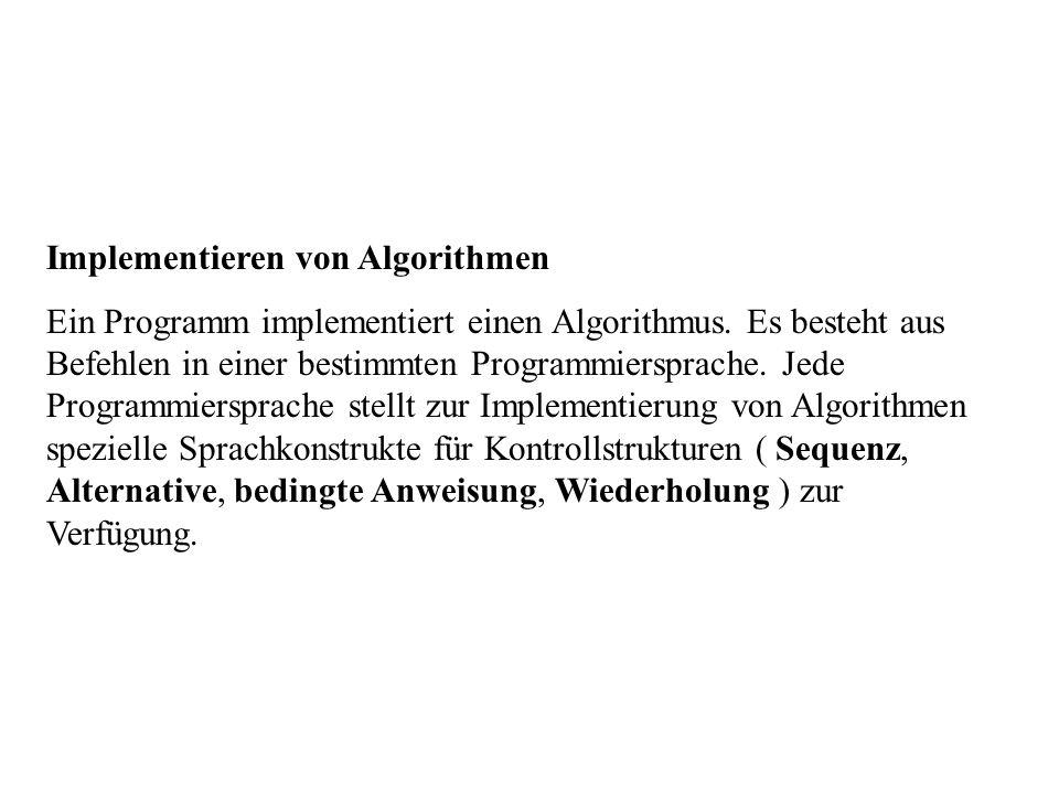 Implementieren von Algorithmen