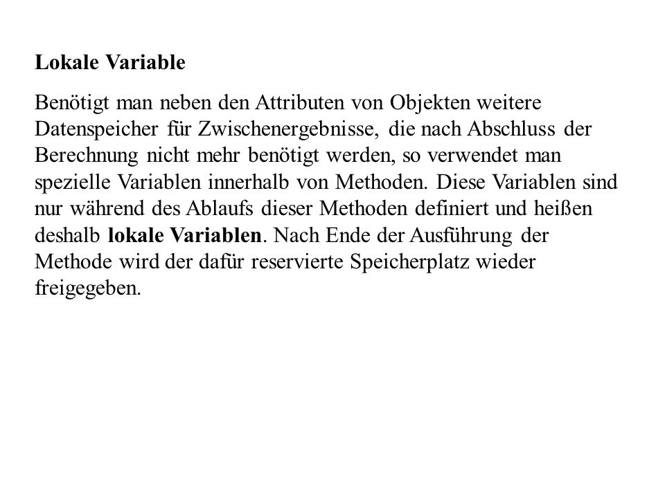 Lokale Variable