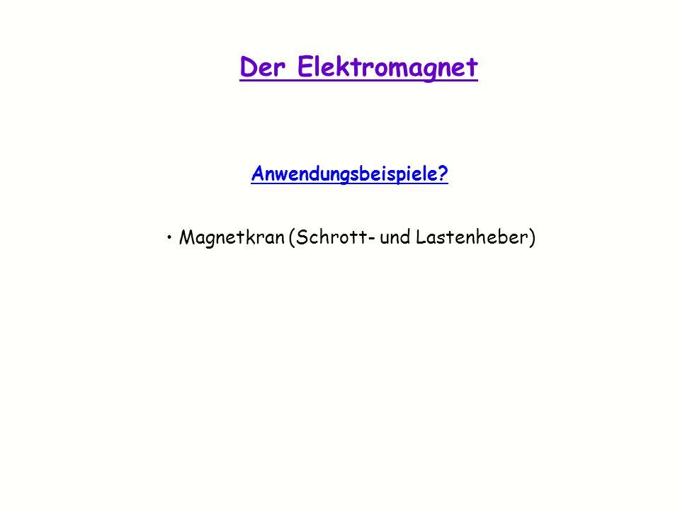 Magnetkran (Schrott- und Lastenheber)