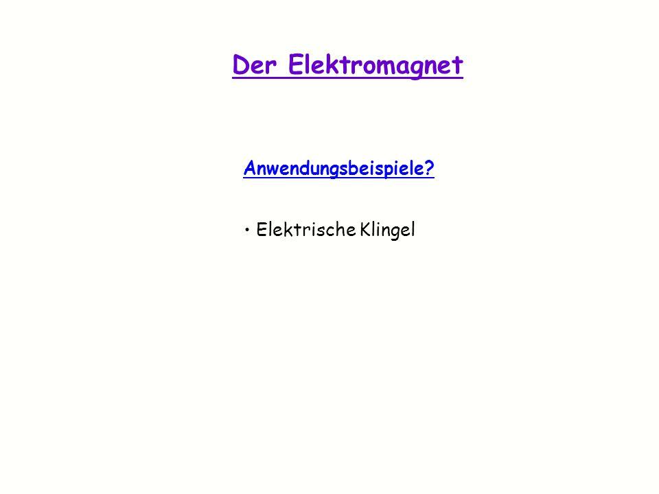 Der Elektromagnet Anwendungsbeispiele Elektrische Klingel