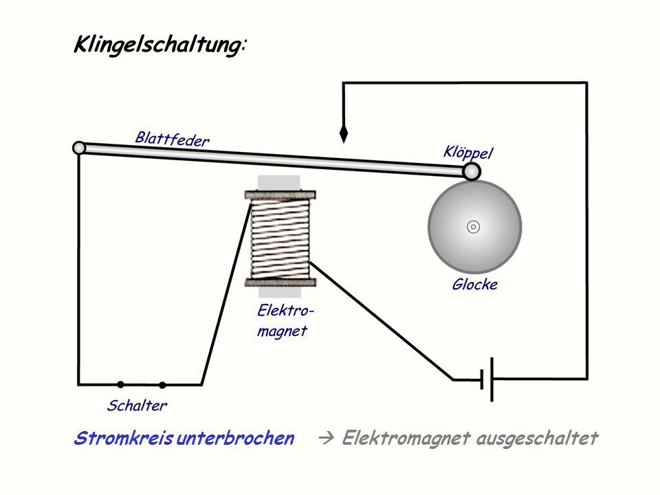 Klingelschaltung: Stromkreis unterbrochen