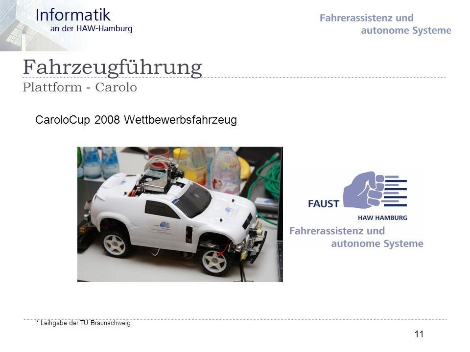 Fahrzeugführung Plattform - Carolo