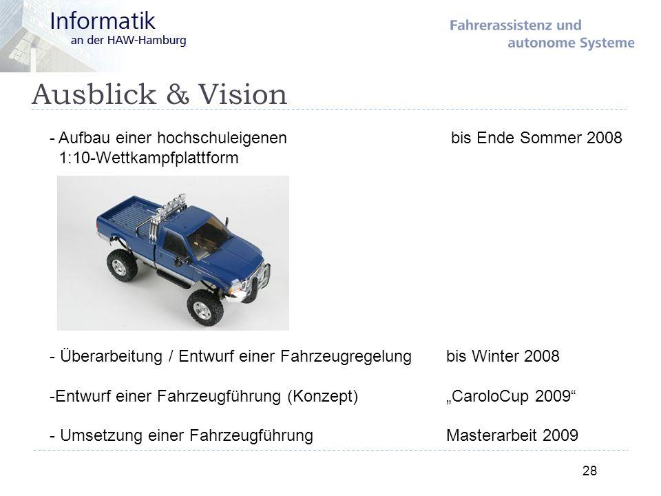 Ausblick & Vision Aufbau einer hochschuleigenen bis Ende Sommer 2008