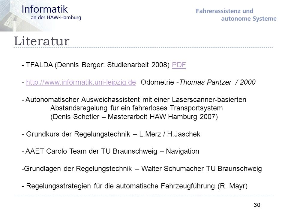 Literatur TFALDA (Dennis Berger: Studienarbeit 2008) PDF