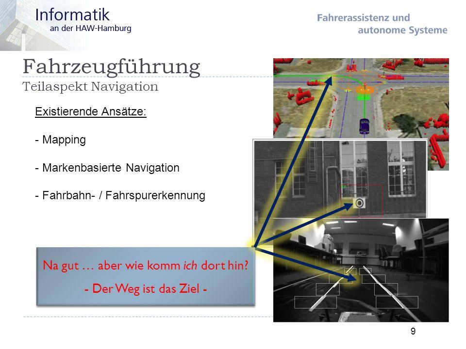 Fahrzeugführung Teilaspekt Navigation