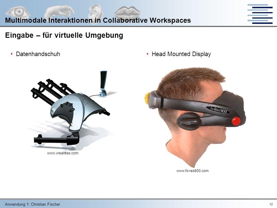 Eingabe – für virtuelle Umgebung
