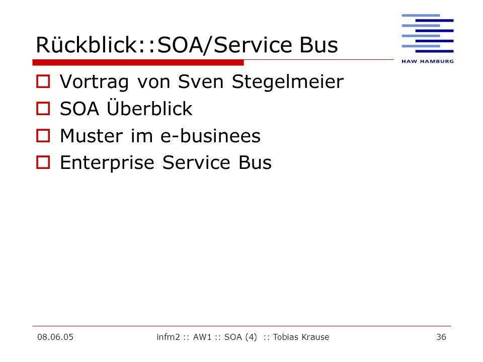 Rückblick::SOA/Service Bus