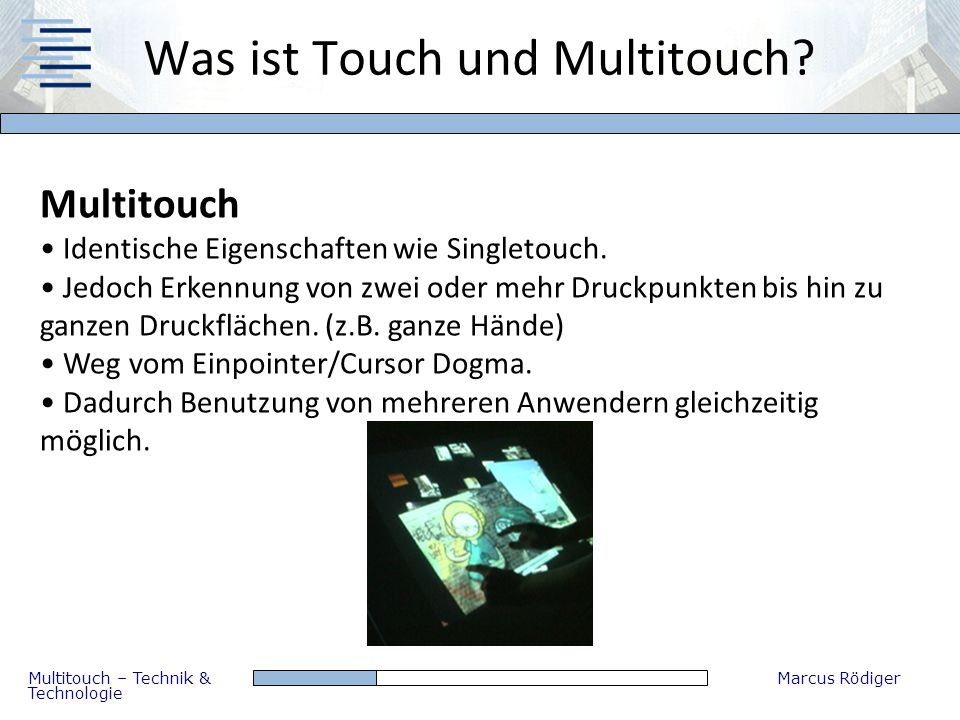 Was ist Touch und Multitouch