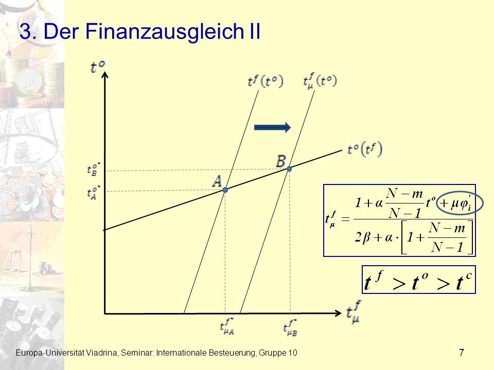 3. Der Finanzausgleich II