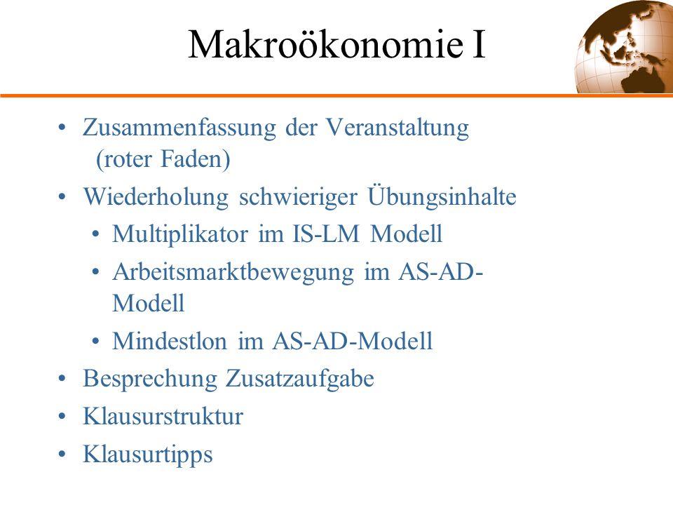 Makroökonomie I Zusammenfassung der Veranstaltung (roter Faden)