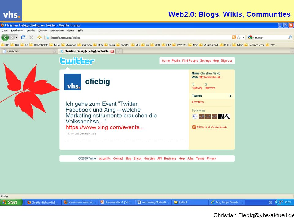 Web2.0: Blogs, Wikis, Communties