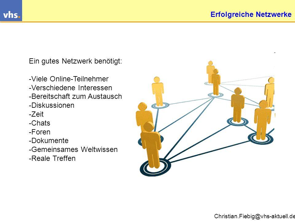 Erfolgreiche Netzwerke