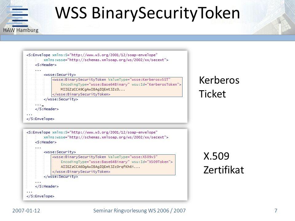 WSS BinarySecurityToken