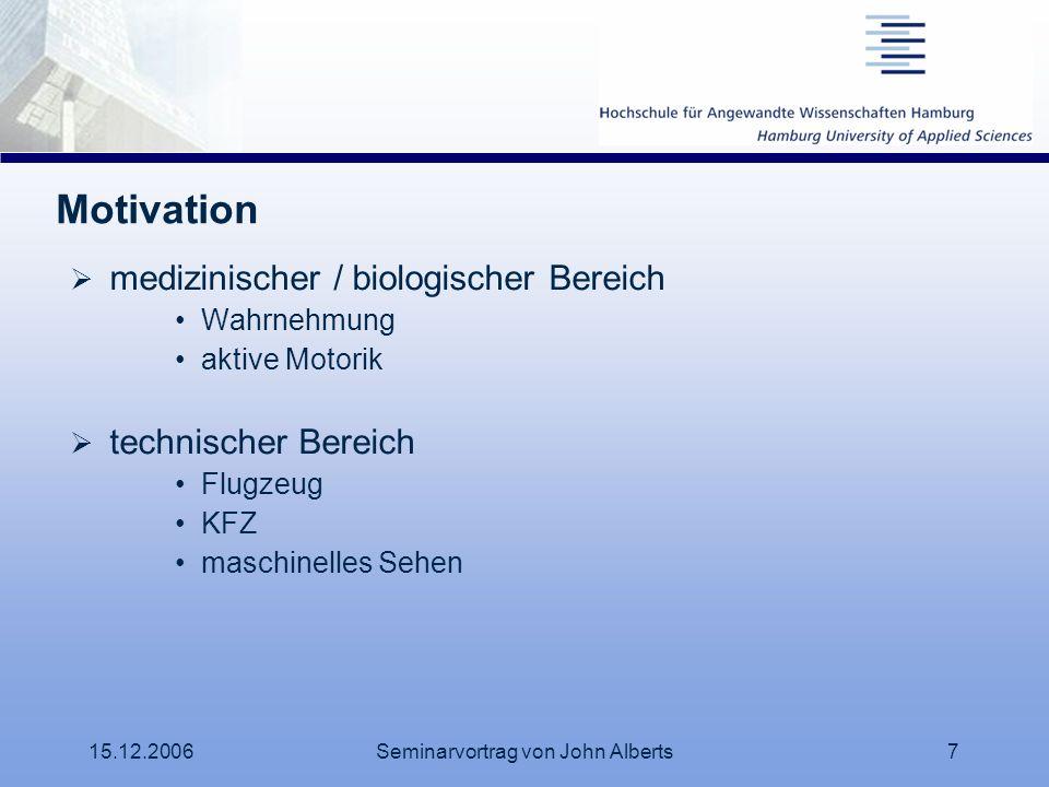 Seminarvortrag von John Alberts