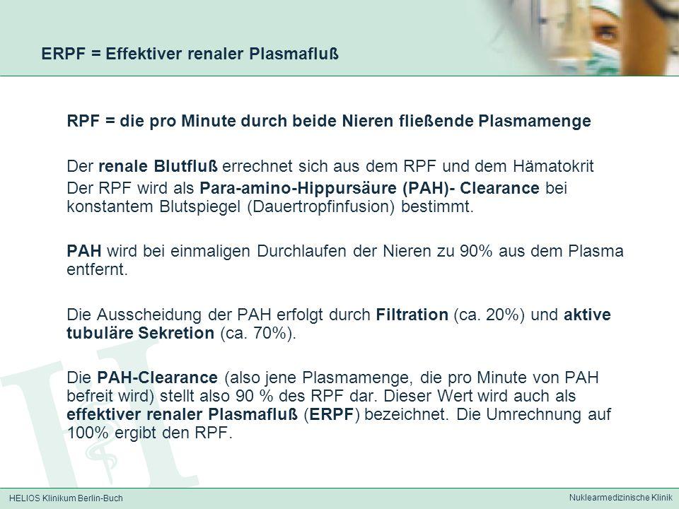 ERPF = Effektiver renaler Plasmafluß