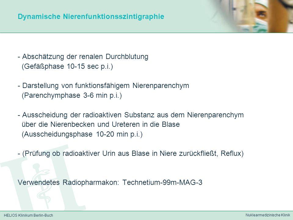 Dynamische Nierenfunktionsszintigraphie