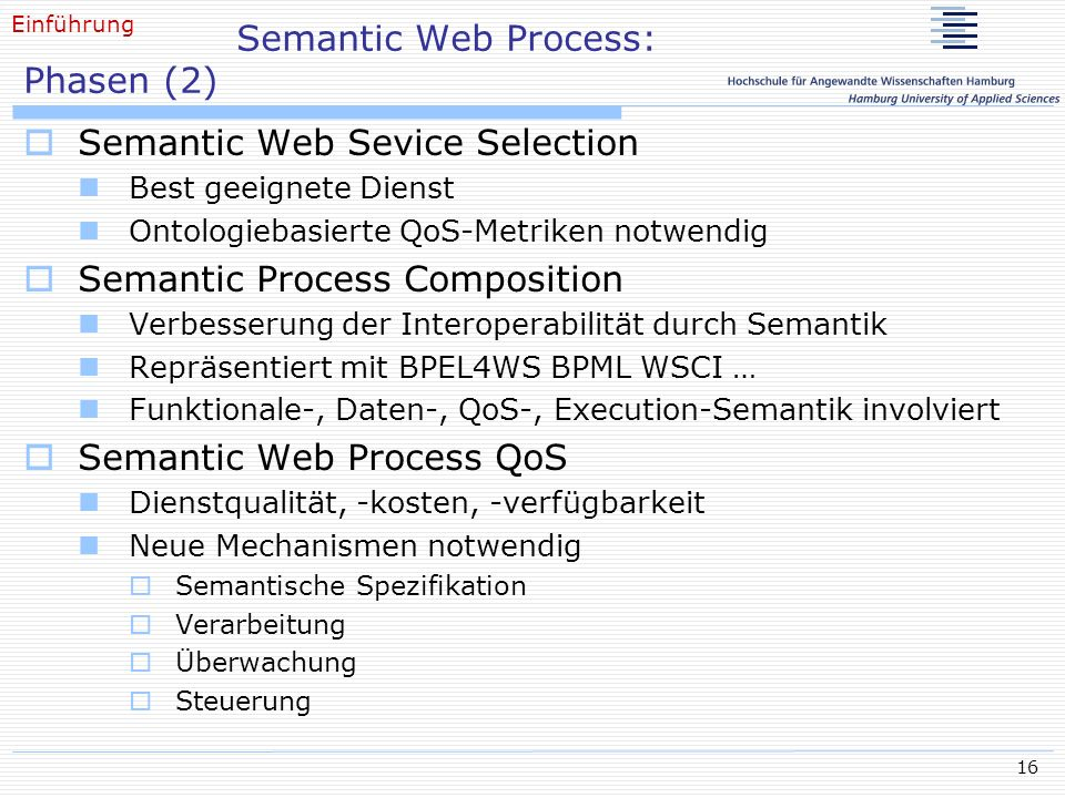 Semantic Web Process: Phasen (2)