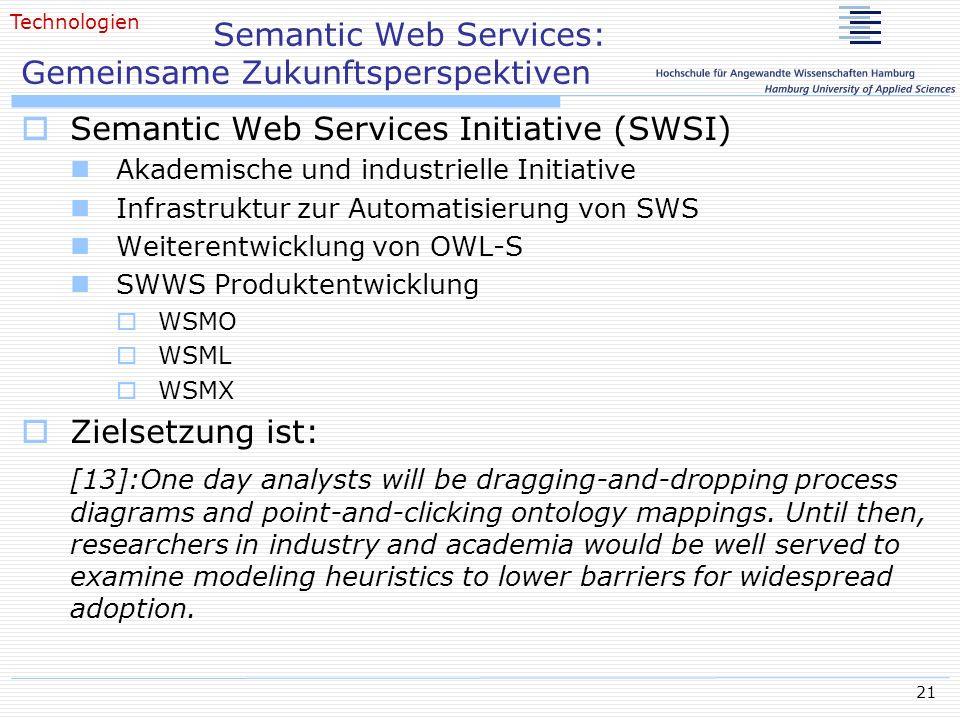 Semantic Web Services: Gemeinsame Zukunftsperspektiven