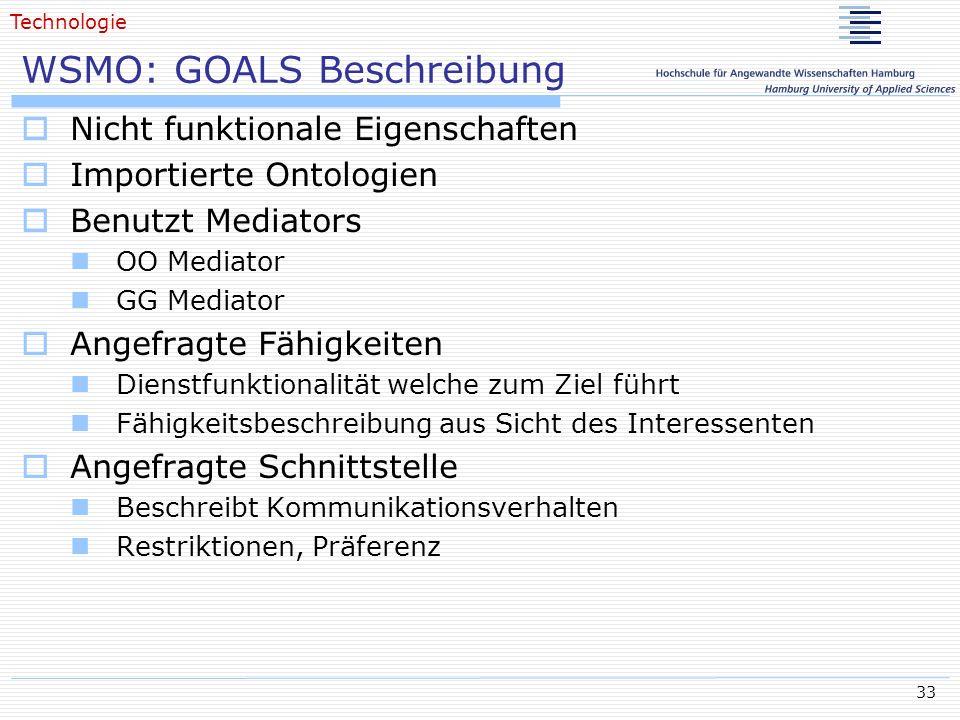 WSMO: GOALS Beschreibung