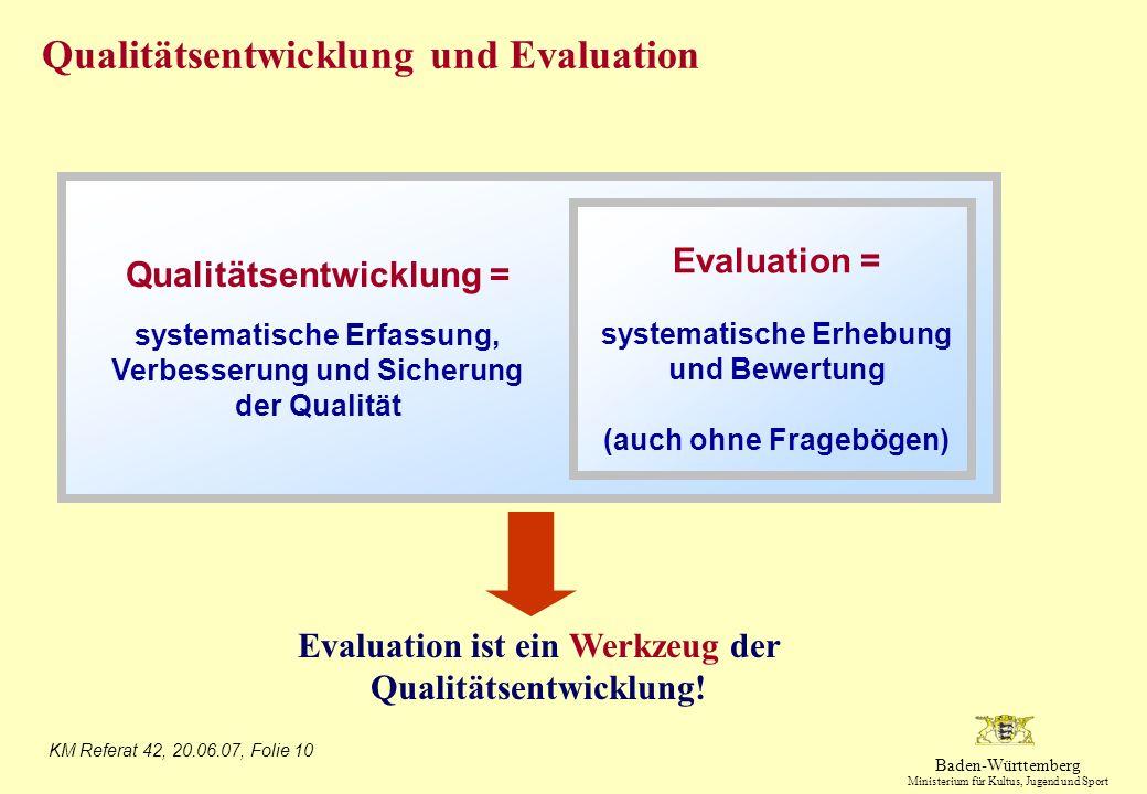 systematische Erhebung und Bewertung (auch ohne Fragebögen)