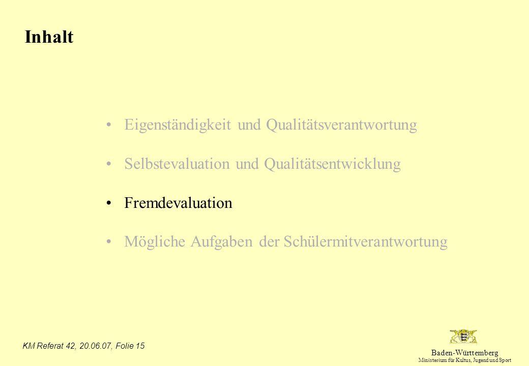 Inhalt Eigenständigkeit und Qualitätsverantwortung