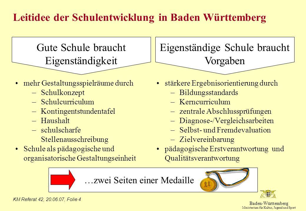 Leitidee der Schulentwicklung in Baden Württemberg