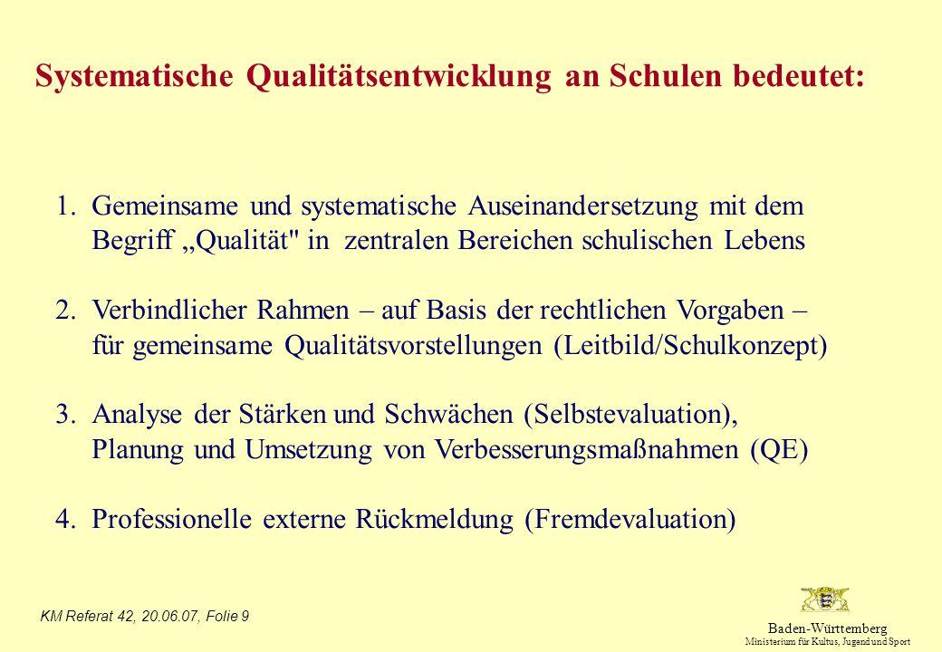 Systematische Qualitätsentwicklung an Schulen bedeutet: