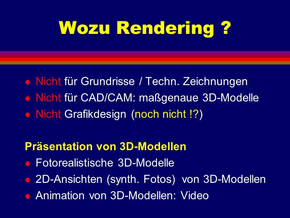 Wozu Rendering Nicht für Grundrisse / Techn. Zeichnungen