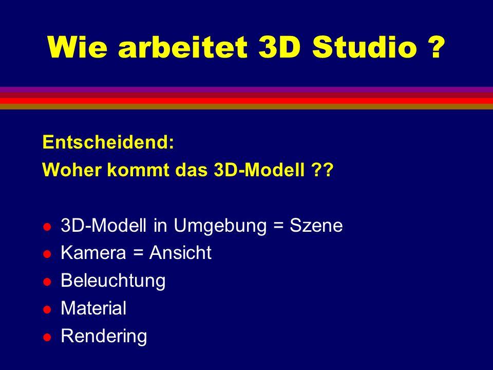 Wie arbeitet 3D Studio Entscheidend: Woher kommt das 3D-Modell