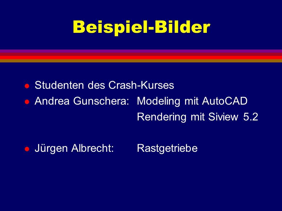 Beispiel-Bilder Studenten des Crash-Kurses