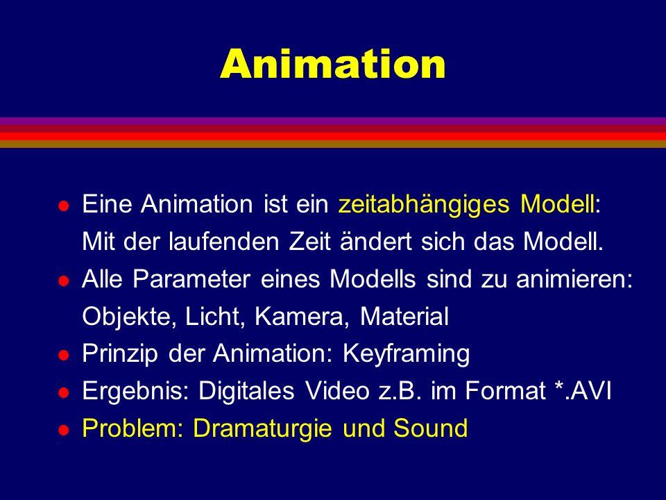 Animation Eine Animation ist ein zeitabhängiges Modell: