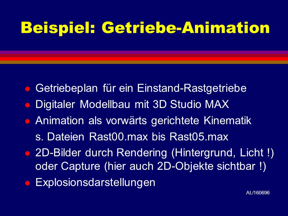 Beispiel: Getriebe-Animation