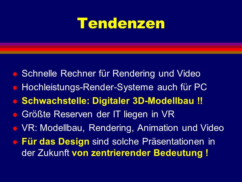 Tendenzen Schnelle Rechner für Rendering und Video