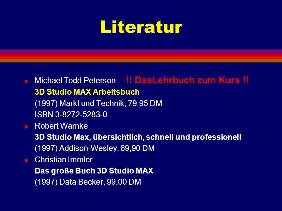 Literatur Michael Todd Peterson !! DasLehrbuch zum Kurs !!