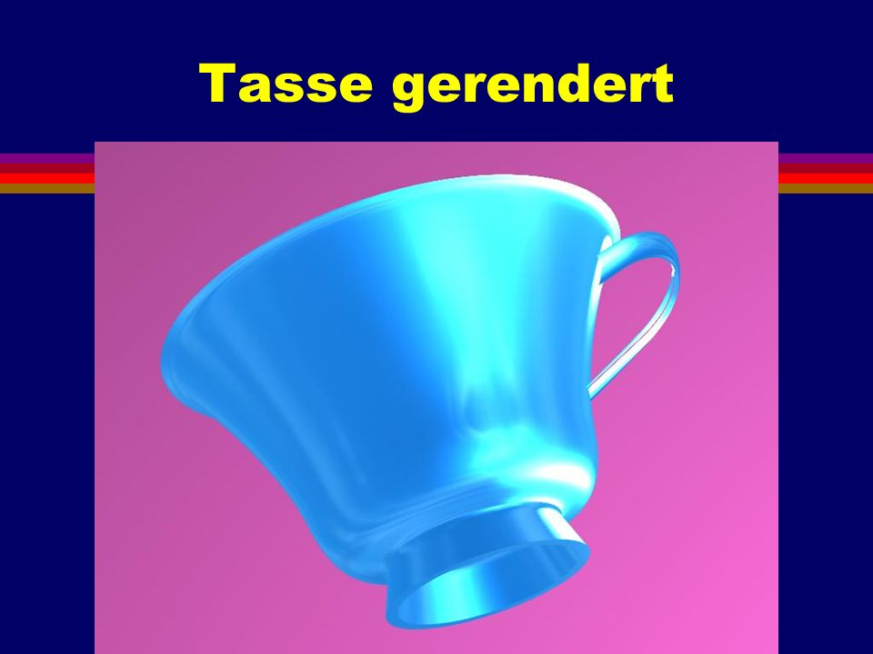 Tasse gerendert