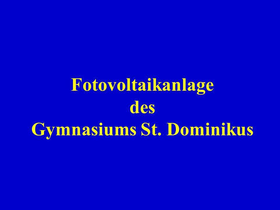 Fotovoltaikanlage des Gymnasiums St. Dominikus